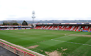 Whaddon Road during the Sky Bet League 2 match between Cheltenham Town and Plymouth Argyle at Whaddon Road, Cheltenham, England on 28 March 2015. Photo by Alan Franklin.