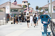 People Walking the Huntington Beach Pier