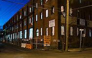 Middletown, New York - Night scenes on April 15, 2015.