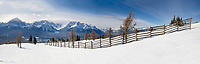 Banff ski trip. Lake Louise from the Top of the World lift.   ©2019 Karen Bobotas Photographer
