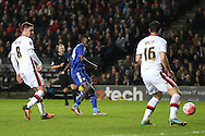 Bertrand Traore of Chelsea © scores his sides 5th goal to make it 1-5.The Emirates FA cup, 4th round match, MK Dons v Chelsea at the Stadium MK in Milton Keynes on Sunday 31st January 2016.<br /> pic by John Patrick Fletcher, Andrew Orchard sports photography.