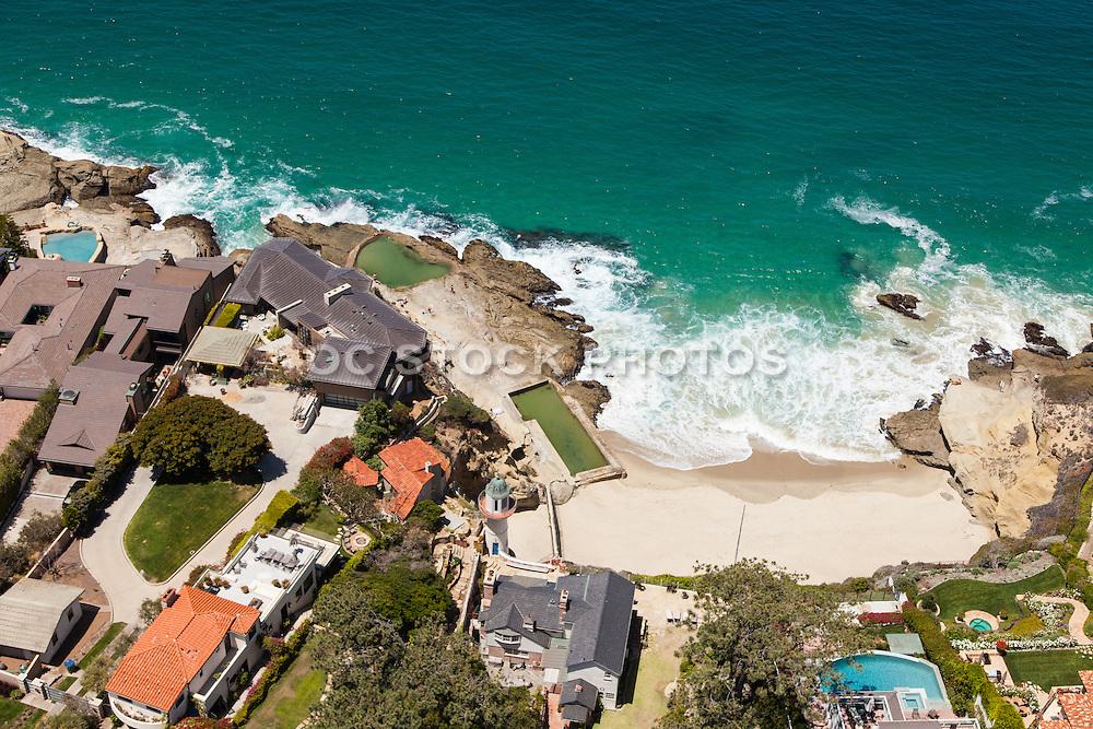 Aerial Stock Photos of Laguna Beach Ocean Front Residences