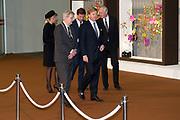 Nationale Herdenking voor de slachtoffers van vlucht MH17 in de RAI , Amsterdam.Vertrek van de gasten na afloop van de bijeenkomst<br /> <br /> National Memorial for the victims of flight MH17 in the RAI, Amsterdam.VThe guests leave after the meeting<br /> <br /> Op de foto / On the photo: <br /> <br />  Koning Willem-Alexander, koningin Maxima, burgemeester Ebenhard van der Laan en minister-president Mark Rutte <br /> <br /> King Willem-Alexander, Queen Maxima, Mayor Eberhard van der Laan and Prime Minister Mark Rutte