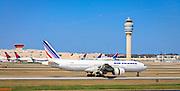 F-GSPA Air France Boeing 777-228(ER), landing at Atlanta's Hartsfield-Jackson International Airport.