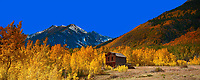Lone Building and Fall Colors at Ashcroft Ghost Town in Colorado. Composite of 15 images taken with a Nikon D3x camera and 85 mm f/2.8 PC-E lens (ISO 100, 85 mm, f/16) combined with Google/NIK HDR Efex Pro and AutoPano Giga Pro 2. Additional processing with Capture One Pro 7 and Adobe PhotoShop CC.