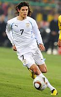 Fotball<br /> VM 2010<br /> Uruguay v Sør Afrika<br /> 16.06.2010<br /> Foto: Insidefoto/Digitalsport<br /> NORWAY ONLY<br /> <br /> Edinson Cavani (Uruguay)