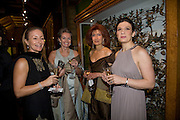 Rima Hakim-Connelly, Deborah Poole, Amal Hallak and Lara Fares. Save the Children's Festival of Trees Gala dinner. Natural History Museum. London. 4 December 2007. -DO NOT ARCHIVE-© Copyright Photograph by Dafydd Jones. 248 Clapham Rd. London SW9 0PZ. Tel 0207 820 0771. www.dafjones.com.