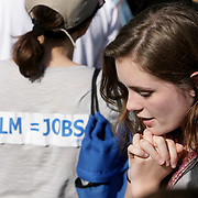 "Grace Victoria Cox from TV's ""Under the Dome"" is pictured during a pro film incentives rally Sunday May 4, 2014 in Wilmington, N.C. (Jason A. Frizzelle)"