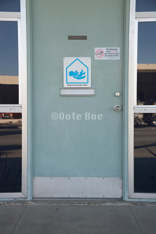 a Safe Haven surrender site for parents to leave there new born baby USA