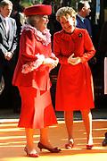 KONINGINNEDAG 2009 in Apeldoorn / Queensday 2009 in the city of Apeldoorn.<br /> <br /> Op de foto / On the Photo:<br />  Queen Beatrix