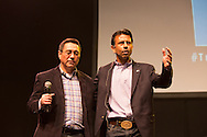 """Gov. Jindal giving the final prayer to a crowd  at """"The Response' in Baton Rouge- An all day prayer on LSU's campus."""