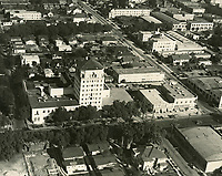 1931 Aerial of Hollywood Athletic Club on Sunset Blvd.
