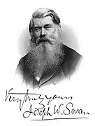 Joseph Wilson Swan (1828-1914) British physicist and chemist. Photography (bromide paper): Incandescent light bulb.  Engraving