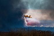 Wielki pożar na 6000 ha w Biebrzańskim Parku Narodowym. Zdjęcia z miejscowości Dolistowo i Wroceń