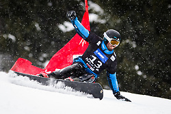 Patrick Bussler (GER) competes during Qualification Run of Men's Parallel Giant Slalom at FIS Snowboard World Cup Rogla 2016, on January 23, 2016 in Course Jasa, Rogla, Slovenia. Photo by Ziga Zupan / Sportida