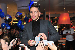 © Licensed to London News Pictures. 07/12/2016<br /> X-Factor finalist Matt Terry is in Bromley this afternoon meeting fans at Carluccios restaurant in The INTU SHOPPING CENTRE before performing a home coming gig in Market Square,Bromley at 7pm tonight.<br /> Photo credit :Grant Falvey/LNP