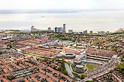 Nederland, Zeeland, Walcheren, 09-05-2013; Vlissingen, boulevard en Westerschelde.<br /> Flushing, esplanade and Western Scheldt.<br /> luchtfoto (toeslag op standard tarieven)<br /> aerial photo (additional fee required)<br /> copyright foto/photo Siebe Swart
