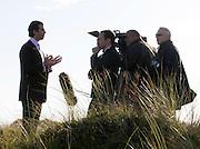 WORK STARTS ON THE TRUMP GOLF COARSE AT MENIE ESTATE NEAR ABERDEEN..PICTURE OF DONALD TRUMP JNR AT THE DUNES ON MENIE ESTATE...PIC ROSS JOHNSTON / NEWSLINE SCOTLAND