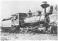 """RGS 2-8-0 #19 with ltwo adies posing at Telluride.<br /> RGS  Telluride, CO  post 1903<br /> In book """"RGS Story, The Vol. X: Over the Bridges? Ridgway to Durango"""" page 220<br /> Also in """"Silver San Juan"""", p. 129.<br /> Same image as """"RD155-160."""