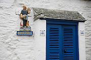 House doorway in St Mawes, Cornwall, England, UK
