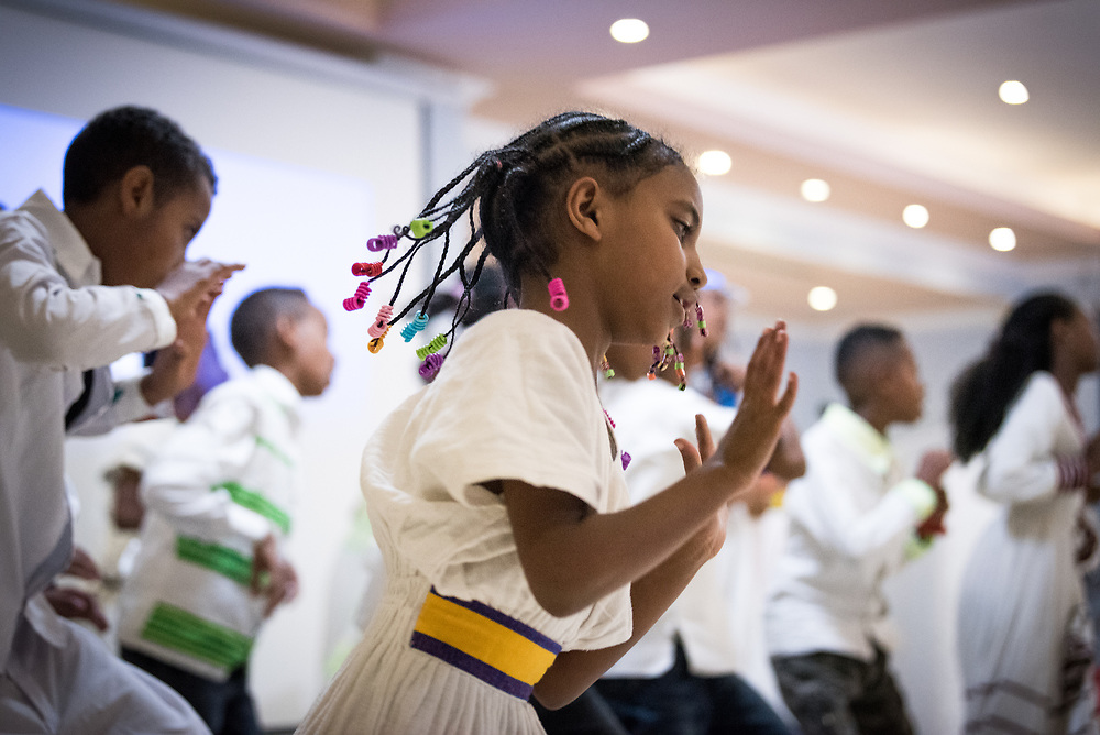 26 October 2019, Addis Ababa, Ethiopia: Choreography performed by the Ejole Kayo choir of the Ethiopian Evangelical Church Mekane Yesus. Gathered in Addis Ababa from 23-27 October 2019, Lutherans from across the globe join in consultation under the theme of 'We believe in the Holy Spirit: Global Perspectives on Lutheran Identities'. Hosted by the Ethiopian Evangelical Church Mekane Yesus, the consultation is the first phase of a study process on Lutheran identities.