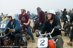 Brian McCann in the pits at TROG West - The Race of Gentlemen. Pismo Beach, CA, USA. Saturday October 15, 2016. Photography ©2016 Michael Lichter.