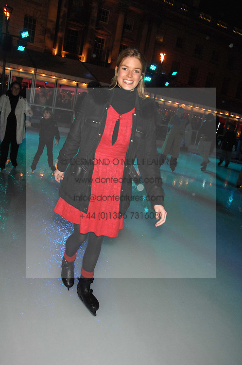 ISABELLA ANSTRUTHER-GOUGH-CALTHORPE at a Winter Party to celebrate the opening of the Ice Rink at Somerset House, London in association with jewellers Tiffany on 20th November 2007.<br /><br />NON EXCLUSIVE - WORLD RIGHTS