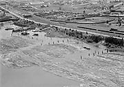 "Ackroyd 00058-10 ""Aerials. August 18, 1947"" ""Log rafts between West Coast Terminals & Gunderson Bros."""