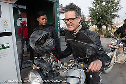 Corey Froschheuser on day-9 of our Himalayan Heroes adventure riding from Pokhara to Nuwakot, Nepal. Wednesday, November 14, 2018. Photography ©2018 Michael Lichter.