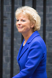 Downing Street, London, September 15th 2015.  Anna Soubry MP, Minister for Small Business, Industry and Enterprise arrives at 10 Downing Street to attend the weekly cabinet meeting