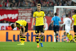 04.10.2015, Allianz Arena, Muenchen, GER, 1. FBL, FC Bayern Muenchen vs Borussia Dortmund, 8. Runde, im Bild enttaeuschung bei Marco Reus #11 (Borussia Dortmund) // during the German Bundesliga 8th round match between FC Bayern Munich and Borussia Dortmund at the Allianz Arena in Muenchen, Germany on 2015/10/04. EXPA Pictures © 2015, PhotoCredit: EXPA/ Eibner-Pressefoto/ Kolbert<br /> <br /> *****ATTENTION - OUT of GER*****
