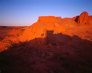 The Flaming Cliffs of Mongolia.