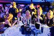 ROSIE FAWEHIMI; GUY PELLY;  The London Bar and Club awards. Intercontinental Hotel. Park Lane, London. 6 June 2011. <br /> <br />  , -DO NOT ARCHIVE-© Copyright Photograph by Dafydd Jones. 248 Clapham Rd. London SW9 0PZ. Tel 0207 820 0771. www.dafjones.com.