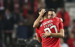 February 7, 2019 - Na - Lisbon, 06/02/2019 - SL Benfica received this evening the Sporting CP in the Stadium of Light, in game the account for the first leg of the Portuguese Cup 2018/19 semi final. Iron and Samaris  (Credit Image: © Atlantico Press via ZUMA Wire)