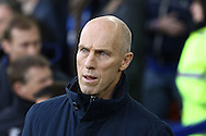 Swansea City Manager Bob Bradley looks on prior to kick off. Premier league match, Everton v Swansea city at Goodison Park in Liverpool, Merseyside on Saturday 19th November 2016.<br /> pic by Chris Stading, Andrew Orchard sports photography.