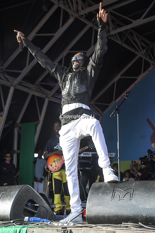 London, UK. 21th July, 2019. General Levy perfroms at the Lambeth Country Show 2019 a family festival with live music food & drinks, Arts and Culture and animal show at Brockwell Park, London.