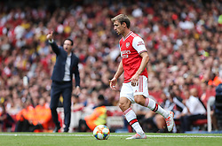 Nacho Monreal of Arsenal on the ball - Mandatory by-line: Arron Gent/JMP - 28/07/2019 - FOOTBALL - Emirates Stadium - London, England - Arsenal v Olympique Lyonnais - Emirates Cup