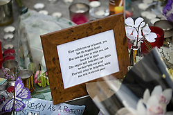 "© under license to London News Pictures.  28/03/2011. Flowers and candles outside SUJU nightclub in Swindon today (mon) on the day Christopher Halliwell appeared at Swindon magistrates court charged with the murder of 22 year-old Sian O""Callaghan. Photo credit should read: LNP.."