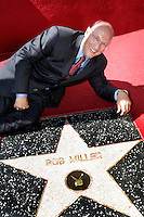 """2 October 2006:  NHL Hockey Hall of Fame TV Sports Announcer Bob Miller receives the 2,319th Star on the Hollywood Walk of Fame at 6763 Hollywood Blvd in Los Angeles, CA.  Bob Miller is in his 34th season as the """"Voice of the Kings"""" and has broadcast over 2,600 NHL Kings games on radio and television. Miller has lent his voice to numerous TV and Film Projects including """"Cheers"""", """"Rollerball"""" and """"Miracle on Ice"""". *BACKGROUND RETOUCHED* ILLUSTRATION*"""