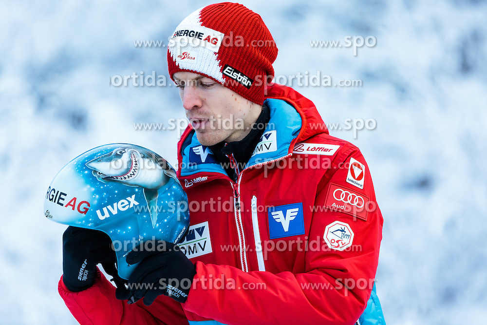 02.01.2017, Seefeld, AUT, FIS Weltcup Ski Sprung, Vierschanzentournee, Innsbruck, im Bild Michael Hayboeck (AUT) während eines Medientermins des ÖSV // Michael Hayboeck of Austria during a Media Event of the Austrian Skijumping Team before the 3rd Stage Insbruck of the Four Hills Tournament of FIS Ski Jumping World Cup at Seefeld, Austria on 2017/01/02. EXPA Pictures © 2017, PhotoCredit: EXPA/ JFK