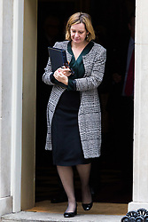 London, October 24 2017. Home Secretary Amber Rudd leaves the UK cabinet meeting at Downing Street. © Paul Davey