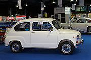 RIAC Classic Car Show 2013, RDS, FIAT 600 D, 1968. The Fiat 600 was introduced in 1955 and the D model dates from 1964. It is powered by 767 cc water cooled 4 cylinder engine. A genuine Italian classic car. Irish, Photo, Archive.