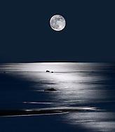 Lake Michigan Moonrise, Upper Peninsula, Michigan