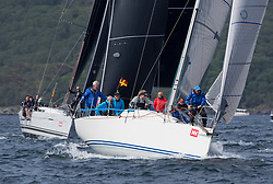 Sailing - SCOTLAND  - 27th May 2018<br /> <br /> 3rd days racing the Scottish Series 2018, organised by the  Clyde Cruising Club, with racing on Loch Fyne from 25th-28th May 2018<br /> <br /> GBR9470R, Banshee, Charlie Frize, CCC, Corby 33.<br /> <br /> Credit : Marc Turner<br /> <br /> Event is supported by Helly Hansen, Luddon, Silvers Marine, Tunnocks, Hempel and Argyll & Bute Council along with Bowmore, The Botanist and The Botanist