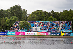 August 5, 2018 - Glasgow, UNITED KINGDOM - 180805 A tree is obstructing the view of the spectators in the stands in the rowing arena during the European Championships on August 5, 2018 in Glasgow..Photo: Jon Olav Nesvold / BILDBYRÃ…N / kod JE / 160285 (Credit Image: © Jon Olav Nesvold/Bildbyran via ZUMA Press)