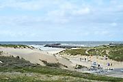 Uitzicht op het Zuiderstrand bij Duindorp, Scheveningen, Den Haag - View on the beach at Scheveningen, The Hague Beach