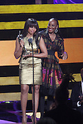 October 13, 2012- Bronx, NY: (L-R) Actress Taraji P. Henson and Susan L. Taylor at the Black Girls Rock! Awards presented by BET Networks and sponsored by Chevy held at the Paradise Theater on October 13, 2012 in the Bronx, New York. BLACK GIRLS ROCK! Inc. is 501(c)3 non-profit youth empowerment and mentoring organization founded by DJ Beverly Bond, established to promote the arts for young women of color, as well as to encourage dialogue and analysis of the ways women of color are portrayed in the media. (Terrence Jennings)