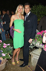 SEB & HEIDI BISHOP she was model Heidi Wichlinski at Michele Watches Kaleidoscope Summer Garden Party held at Home House, Portman Square, London on 15th June 2005.<br />