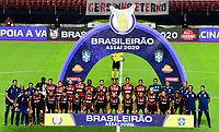 SAO PAULO, BRAZIL - FEBRUARY 25: Team Players of CR Flamengo póse ,during a Brasileirao Serie A 2020 match between Sao Paulo FC and CR Flamengo at Morumbi Stadium on February 25, 2021 in Sao Paulo, Brazil. (Photo by MB Media/BPA)