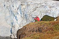 Greenland; Russels Gletcher; tent